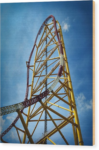 Cedar Point - Top Thrill Dragster Wood Print