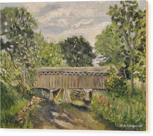Cedarburg Covered Bridge Wood Print