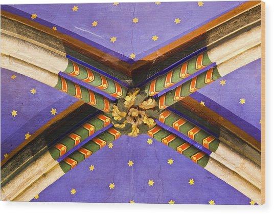 Ceiling Detail Wood Print