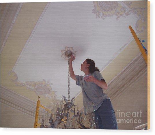 Ceiling Painting Wood Print