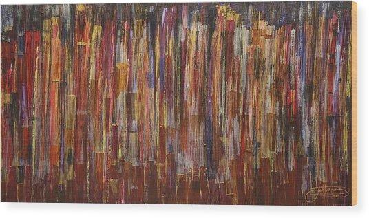 Celebrate Manhattan Wood Print