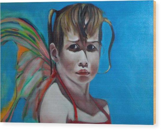 Celeste At Grand Beach Wood Print