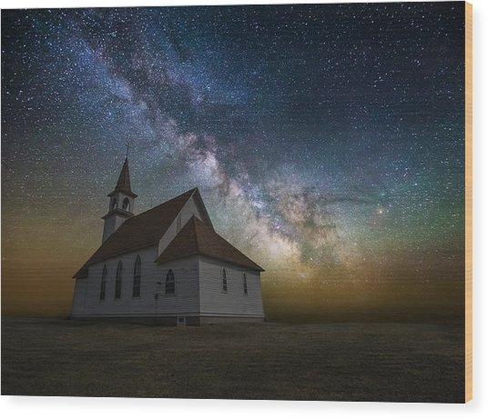 Celestial Wood Print