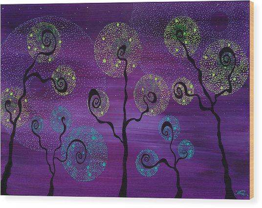 Celestial Garden Wood Print