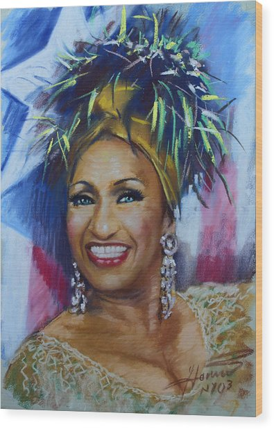 Celia Cruz Wood Print