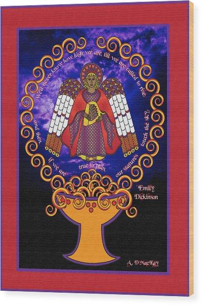 Celtic Angel Rising Wood Print