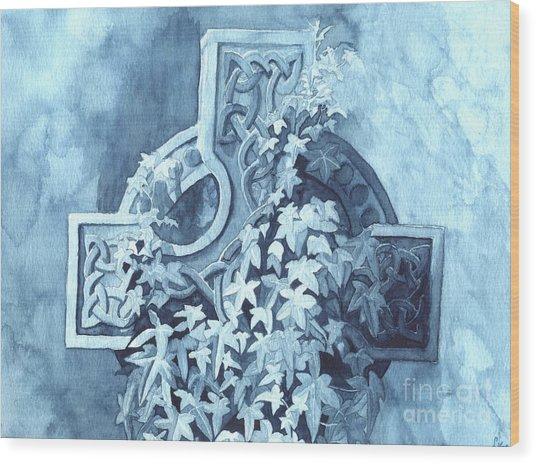 Celtic Cross Study Wood Print