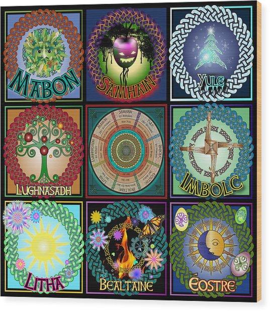 Celtic Festivals Calendar Wood Print