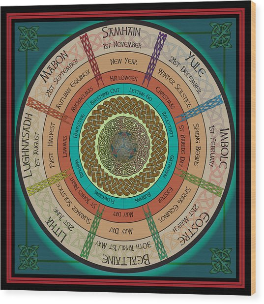 Celtic Festivals Wood Print