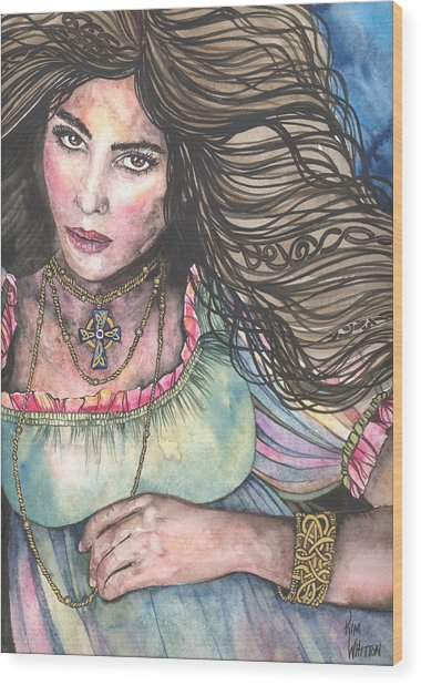 Celtic Queen Wood Print by Kim Sutherland Whitton