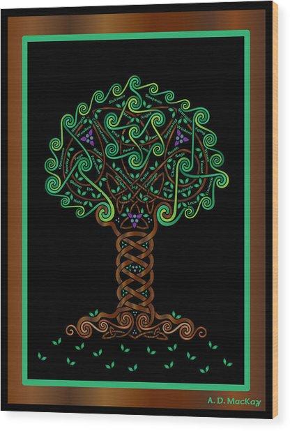 Celtic Tree Of Life Wood Print