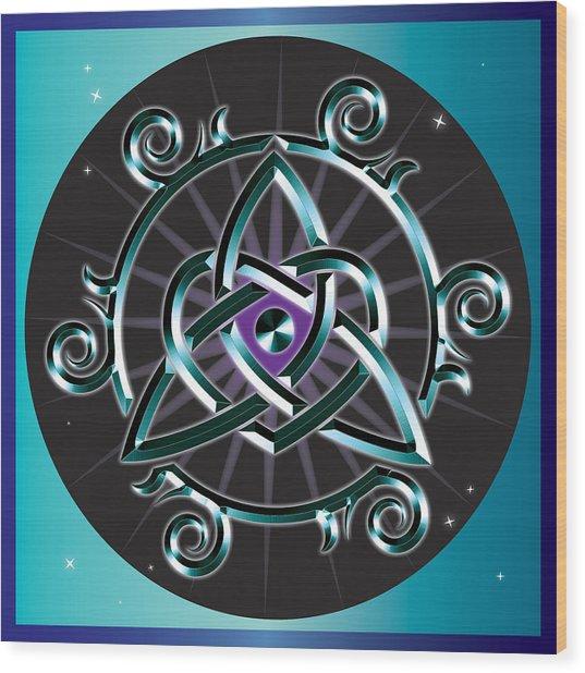 Celtic Triquetra Heart Wood Print