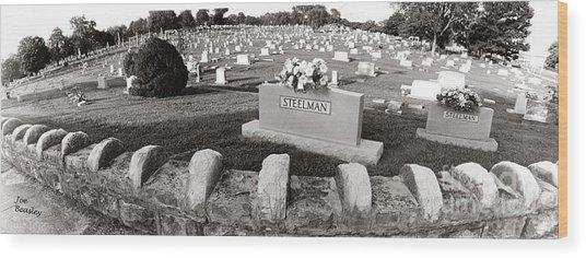 Cemetery  Fayettville Tennessee Wood Print by   Joe Beasley