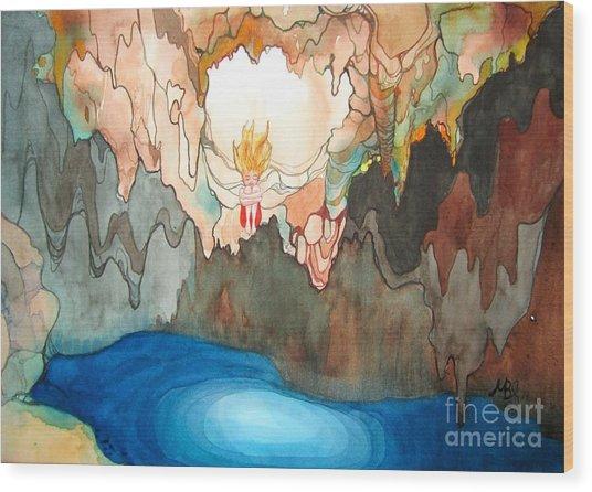 Cenote Wood Print by Maya Simonson