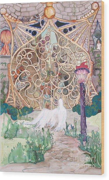 Center Of The World Wood Print by Maya Simonson