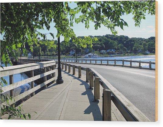 Centerport Bridge Long Island New York Wood Print