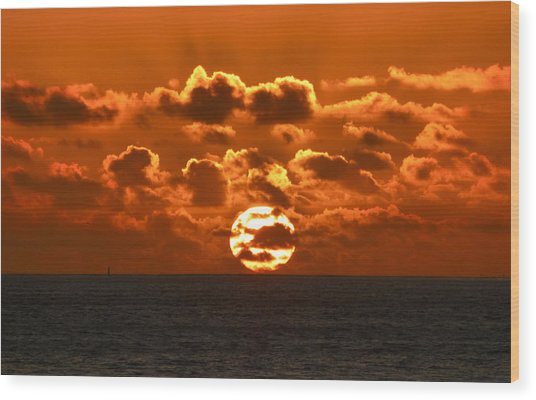 Central Coast Sunset Wood Print