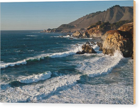 Central Coastal California 2.2609 Wood Print by Stephen Parker