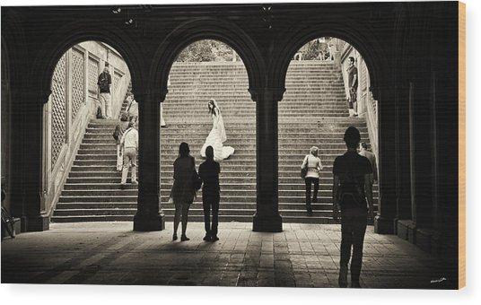 Central Park Bride Wood Print