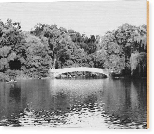 Central Park Bridge Wood Print