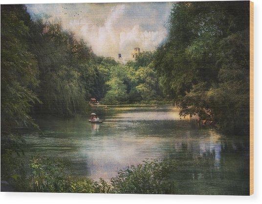 Central Park Lake Wood Print