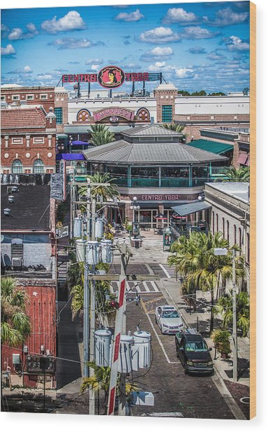 Centro Wood Print by Ybor Photography