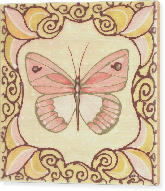 Ceramic Butterfly 2 Wood Print