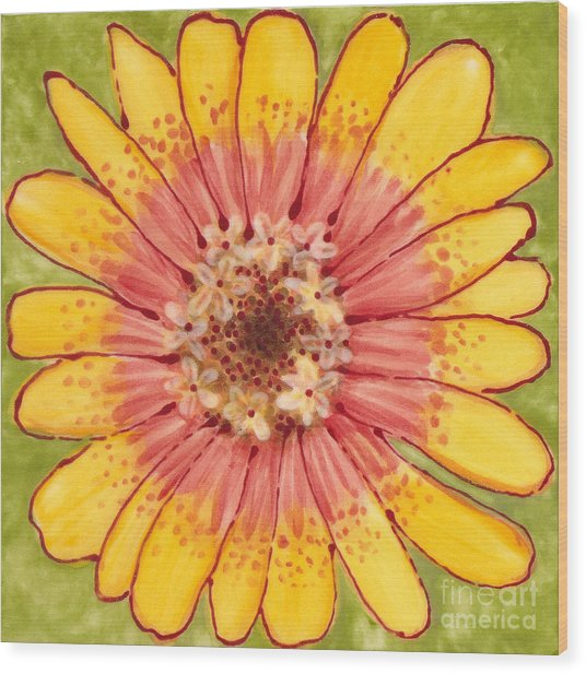 Ceramic Flower 1 Wood Print