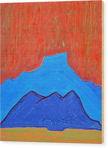 Cerro Pedernal Original Painting Sold Wood Print