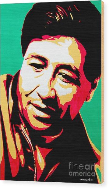 Cesar Chavez Wood Print