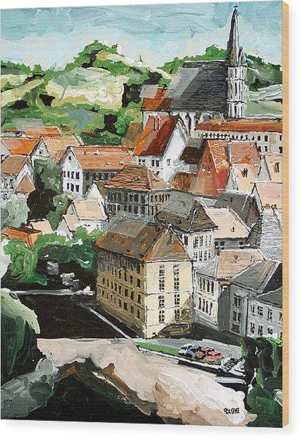 Cesky Krumlov Czechoslovakia Wood Print