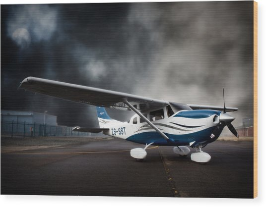 Cessna Ground Wood Print