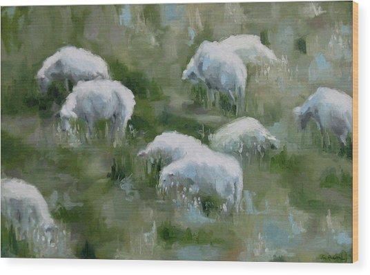 Cezanne Sheep Wood Print