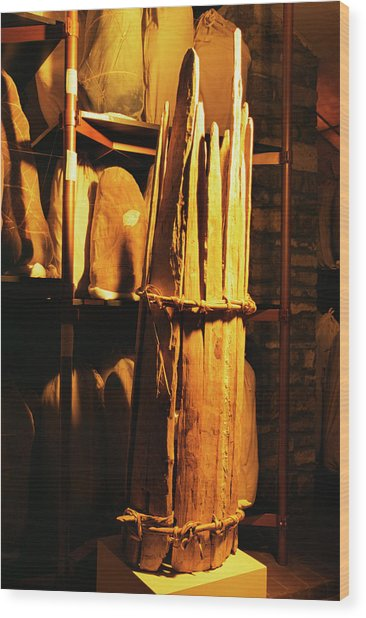 Chachapoyas Mummy Carrier Wood Print