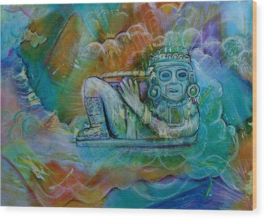 Chacmool De Templo Mayor Wood Print