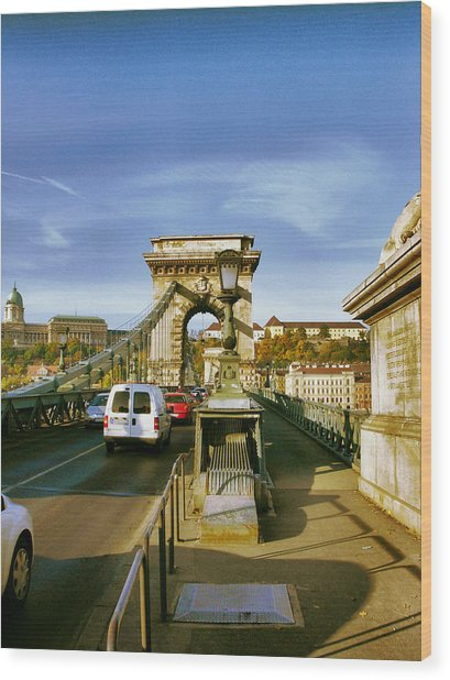 Chain Bridge-1 Wood Print by Janos Kovac