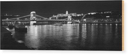 Chain Bridge-budapest Wood Print