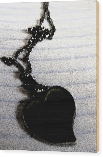 Chained Heart Wood Print