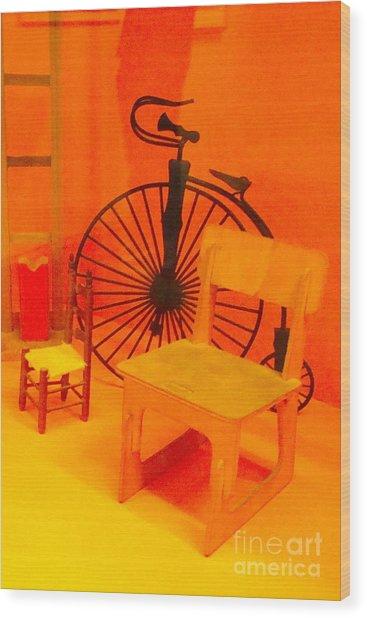 Chairs Spoke Wood Print