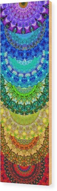 Chakra Mandala Healing Art By Sharon Cummings Wood Print