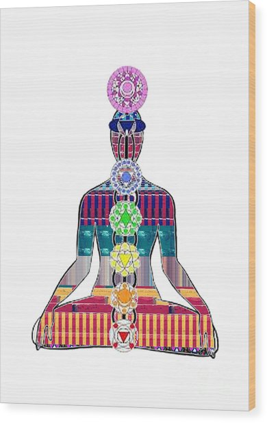 Chakra Yoga Mandala  Buy Faa Print Products Or Down Load For Self Printing Navin Joshi Rights Manage Wood Print