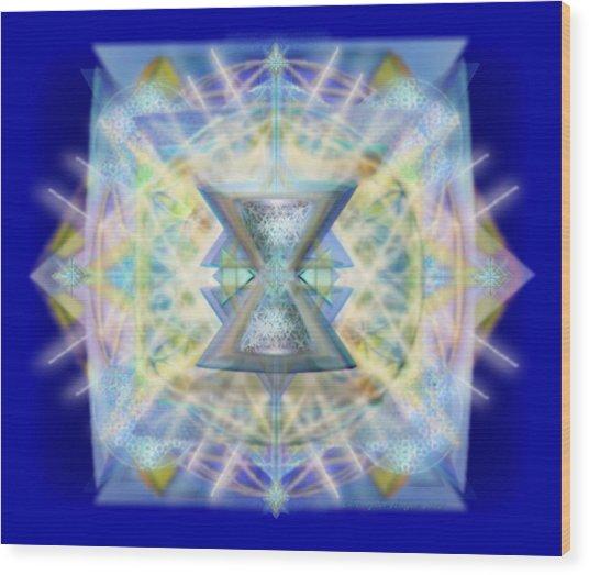 Chalicell Matrix Rainbow Cross Of Light Wood Print