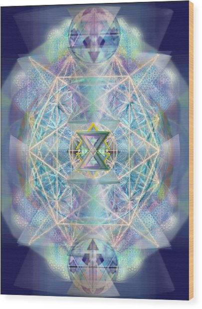 Chalicells Electric Sparkling Vortices Of Light II Wood Print