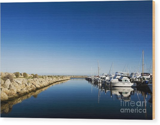 Challenger Harbour Of Fremantle Wood Print