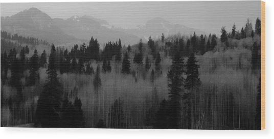 Chama Trees Wood Print