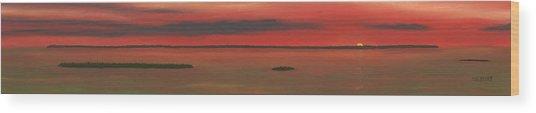 Chambers Island Sunset Wood Print