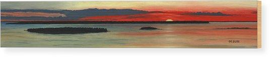 Chambers Island Sunset II Wood Print