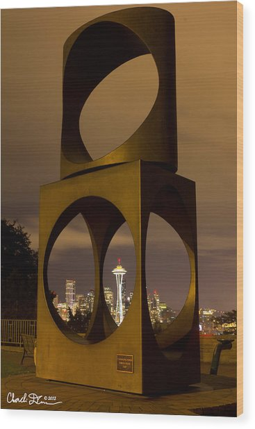 Changing Form Of Seattle Wood Print