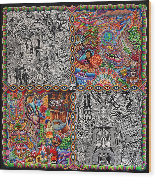 Chaos Culture Jam Wood Print by Chris Dyer