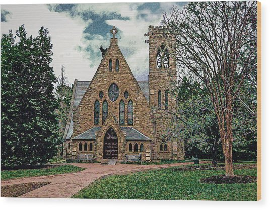 Chapel At University Of Virginia Wood Print